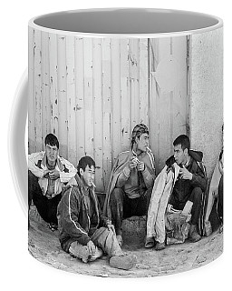 Coffee Mug featuring the photograph Uzbek Day Laborers by SR Green