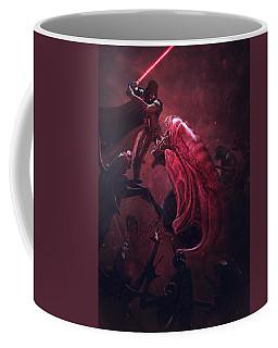 Vader Vs Aliens 3 Coffee Mug