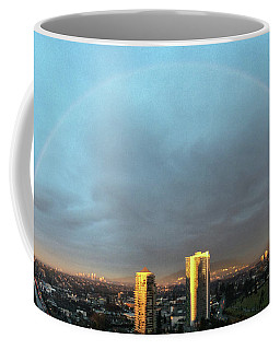Coffee Mug featuring the photograph Vancouver Rainbow by Juan Contreras