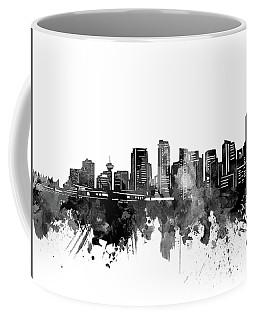 Vancouver Skyline Bw Coffee Mug