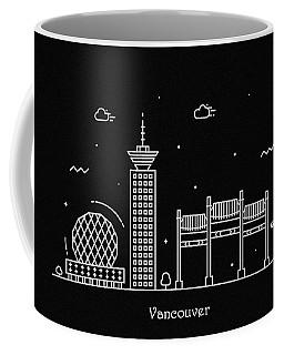 Vancouver Skyline Travel Poster Coffee Mug