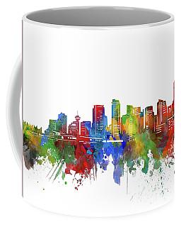 Vancouver Skyline Watercolor 2 Coffee Mug