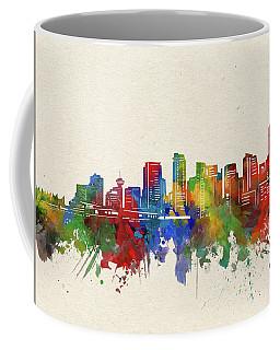 Vancouver Skyline Watercolor Coffee Mug
