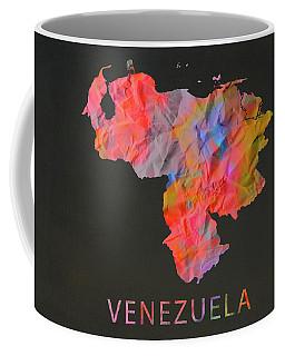 Venezuela Tie Dye Country Map Coffee Mug
