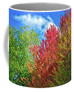 Coffee Mug featuring the photograph Vibrant Autumn Hues At Cornell University - Ithaca, New York by Lynn Bauer