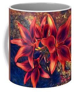 Vibrant Red Lilies Coffee Mug