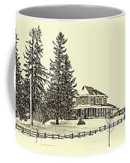 Victorian Farmhouse 2 Sepia Coffee Mug