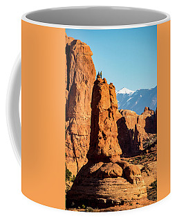 Coffee Mug featuring the photograph Victory Dance by David Morefield