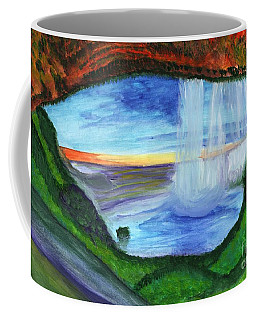 View From The Cave To The Waterfall Coffee Mug