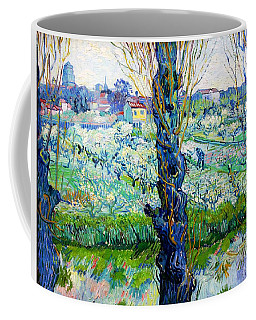 View Of Arles, Flowering Orchards - Digital Remastered Edition Coffee Mug