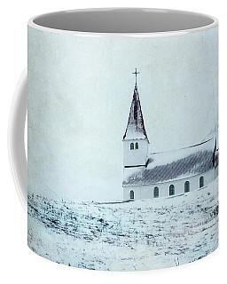Vik I Myrdal Church In Snow Coffee Mug