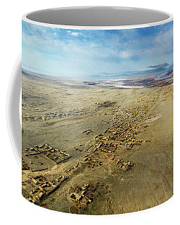 Coffee Mug featuring the photograph Village Toward Amu Darya River by SR Green