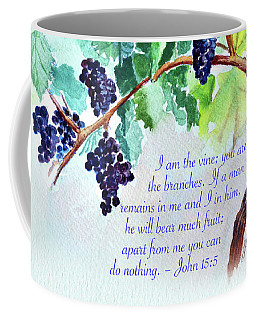 Vine And Branch With Scripture Coffee Mug