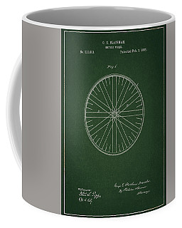 Coffee Mug featuring the drawing Vintage Bicycle Tire Patent by Dan Sproul