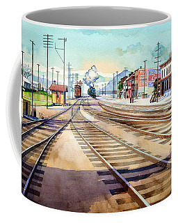 Vintage Color Columbia Rail Yards Coffee Mug