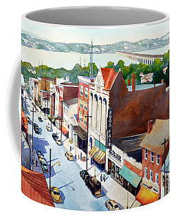 Vintage Color, Columbia Rooftops Coffee Mug