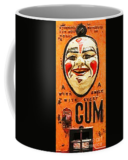Coffee Mug featuring the photograph Vintage Gum Machine Penny Arcade Nostalgia 20181224 V2 by Wingsdomain Art and Photography