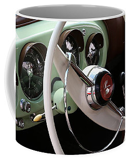 Coffee Mug featuring the photograph Vintage Kaiser Darrin Automobile Interior by Debi Dalio