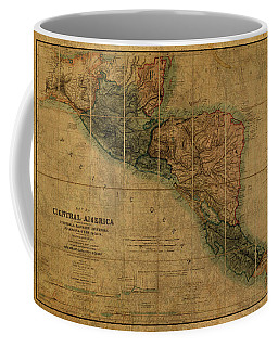 Vintage Map Of Central America 1850 Coffee Mug