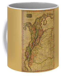 Vintage Map Of Columbia 1818 Coffee Mug