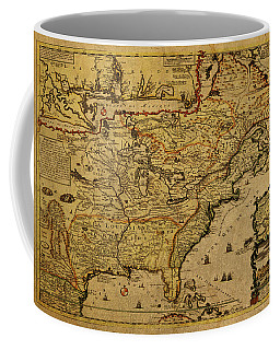 Vintage Map Of French America 1719 Coffee Mug