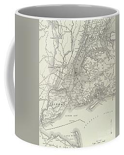 Vintage Map Of Greater New York Coffee Mug