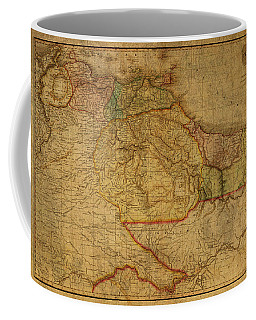 Vintage Map Of Guyana And Eastern South America 1818 Coffee Mug