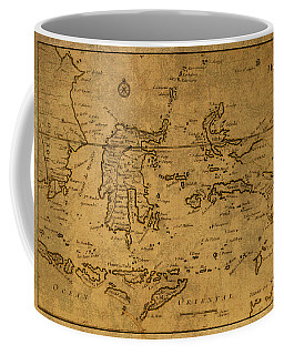 Vintage Map Of Indonesia And The Pacific Ocean Coffee Mug