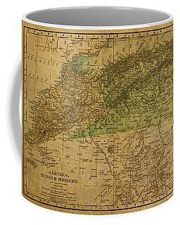 Vintage Map Of North Africa Including Morocco Algeria And Tunisia 1901 Coffee Mug