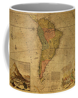 Vintage Map Of South America 1715 Coffee Mug