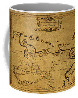 Vintage Map Of Venezuela Coffee Mug