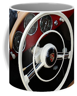 Coffee Mug featuring the photograph Vintage Red Convertible Interior by Debi Dalio