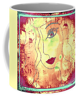 Coffee Mug featuring the mixed media Visage De Lumiere by Rachel Maynard