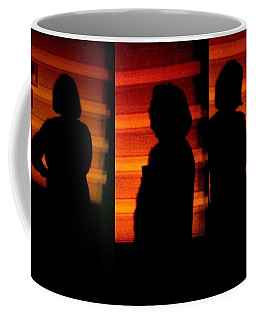 Coffee Mug featuring the photograph Viva  Collage - Night Stalker,lol by VIVA Anderson
