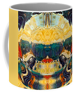 Coffee Mug featuring the digital art Volcano 2.0 by A zakaria Mami