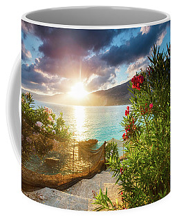 Vouti Beach, Kefalonia, Greece - Incredible Summer Sunrise By Th Coffee Mug