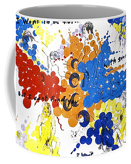 Coffee Mug featuring the painting Vulnerability  by Rene Capone