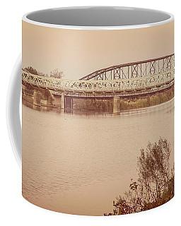 Waco Suspension Bridge Panoramic Coffee Mug
