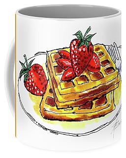Waffles And Strawberries  Coffee Mug