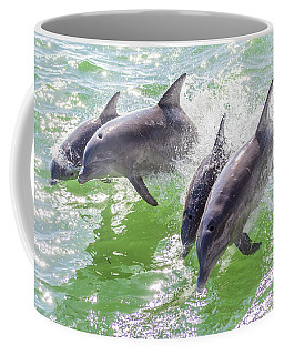 Wake Surfing Dolphin Family Coffee Mug