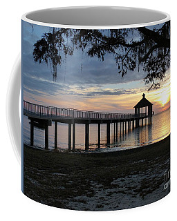Coffee Mug featuring the photograph Walking Bridge To The Gazebo by Rosanne Licciardi