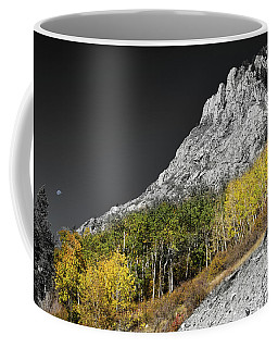 Coffee Mug featuring the photograph Waning Gibbous Moon Autumn Monarch Pass Bwsc by James BO Insogna