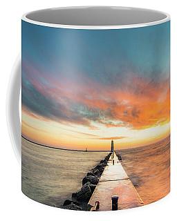Warm Winter Sunset In Frankfort Coffee Mug