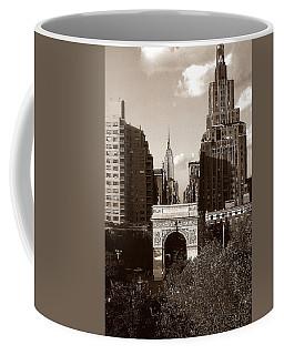 Washington Arch And New York University - Vintage Photo Art Coffee Mug