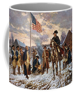 Washington At Valley Forge Coffee Mug