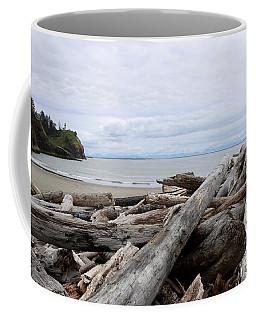 Washington Coastline With Driftwood Coffee Mug