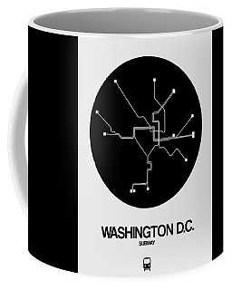 Washington D.c. Black Subway Map Coffee Mug