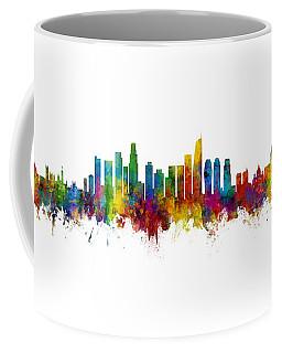 Washington Dc, Los Angeles And Buenos Aires Skyline Mashup Coffee Mug