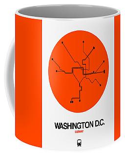 Washington D.c. Orange Subway Map Coffee Mug