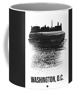 Washington, D.c. Skyline Brush Stroke Black Coffee Mug